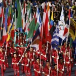 Charleigh Flag carrying in closing Olympic ceremony
