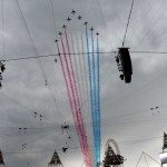 Red Arrows over Olympics